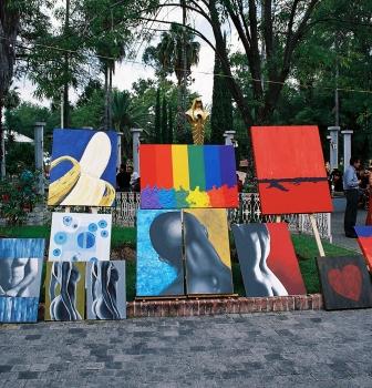 Arte en la Glorieta Chapalita